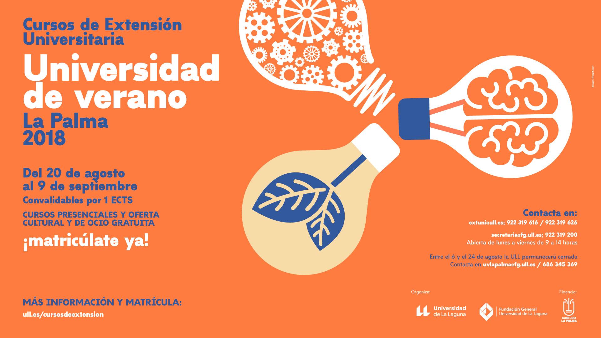 La Universidad de Verano de La Palma organiza 16 actividades culturales gratuitas