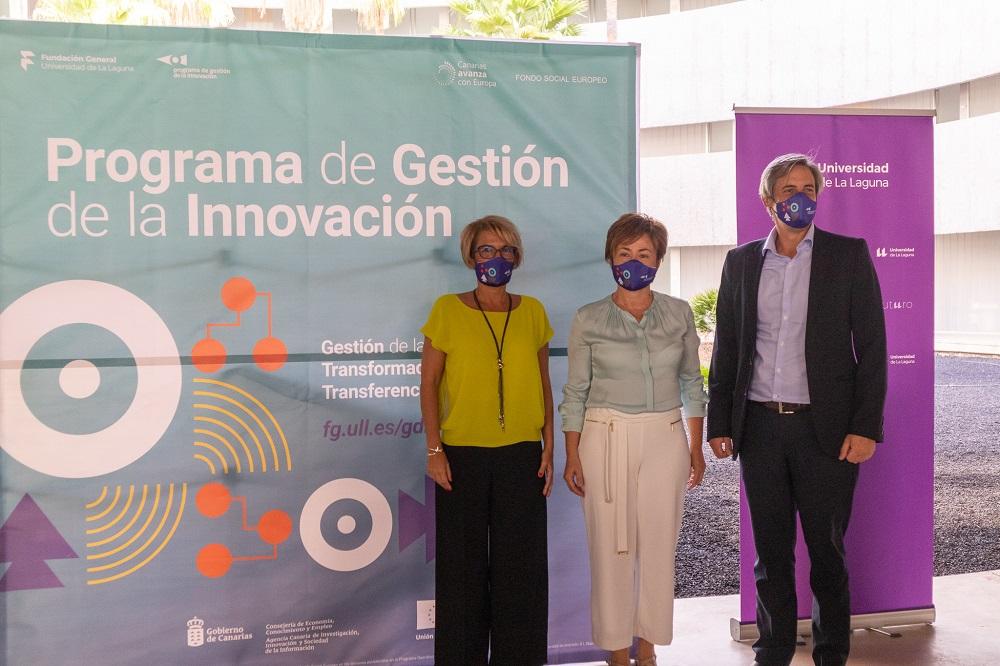 Elana Máñez, Rosa Aguilar y Carlos Navarro tras la presentación del programa en rueda de prensa.