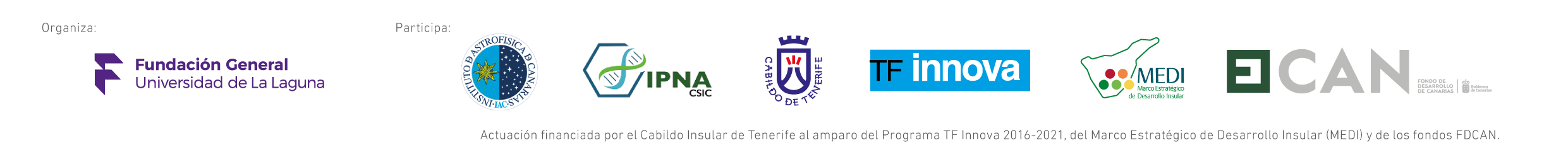 Logos de entidades del programa SpinUp 2020